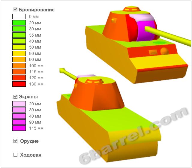 Схема бронирования танка КВ-3