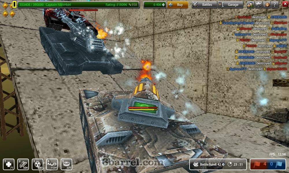 Игры онлайн рикошет