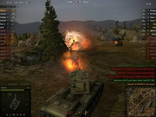 World of Tanks: тяжёлый танк КВ-2 нагибает с шайтан-трубой 152 мм М-10