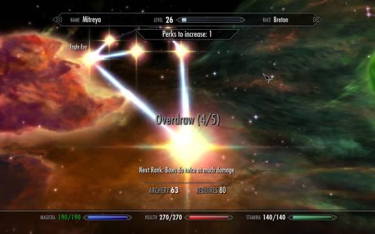 The Elder Scrolls 5: Skyrim - Горящие звёзды - уже взятые перки