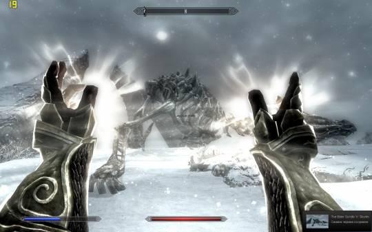 The Elder Scrolls 5: Skyrim - После победы над Драконом - обязательно лечение. В каждой руке по лечебному заклинанию
