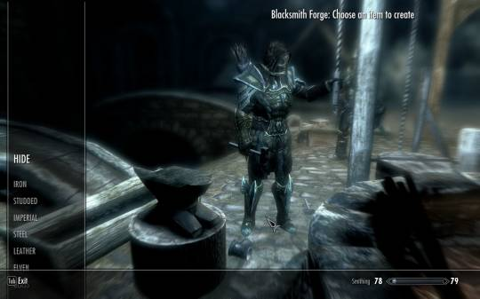 The Elder Scrolls 5: Skyrim - Работа в кузнице