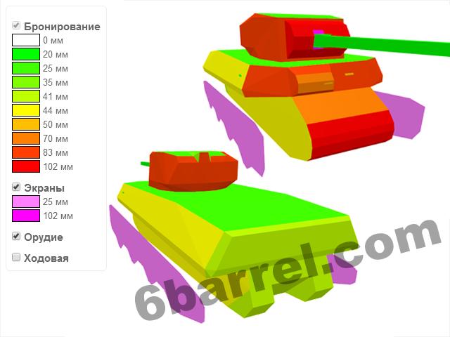Схема бронирования T1 Heavy