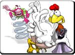 Бесплатно скачать игру Куриная месть. Первая разборка - Аркады и экшн - Казуальные мини-игры - Браузерные, казуальные, онлайновые, компьютерные и мини-игры