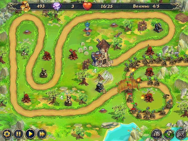 возникает игра где нужно защищать замок управляя арбалетом выяснилось